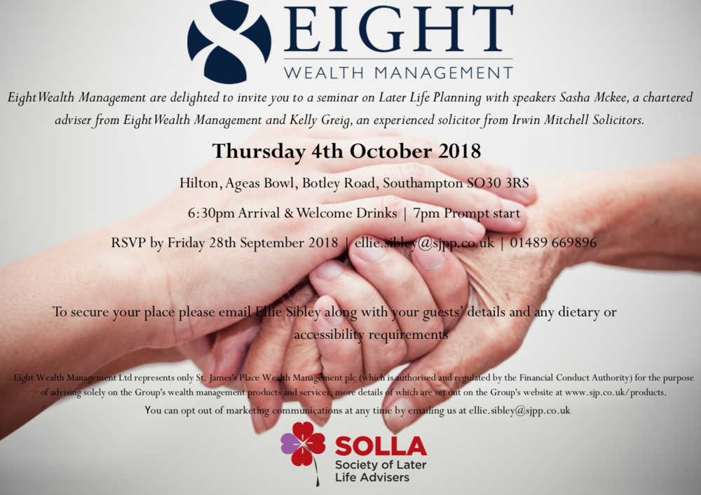 Eight Wealth Management Events
