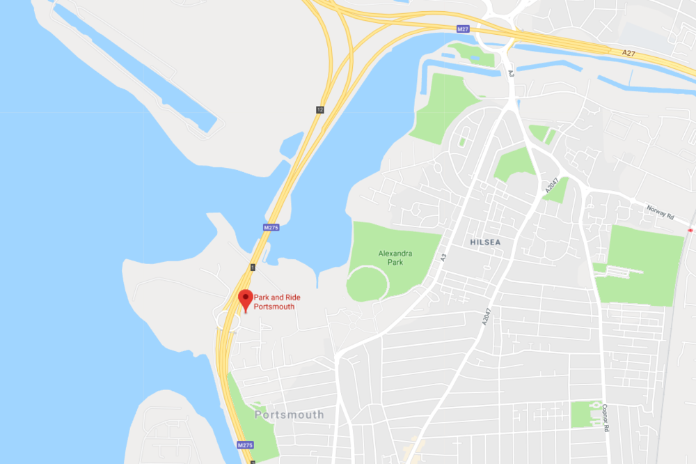 Portsmouth Park and Ride location