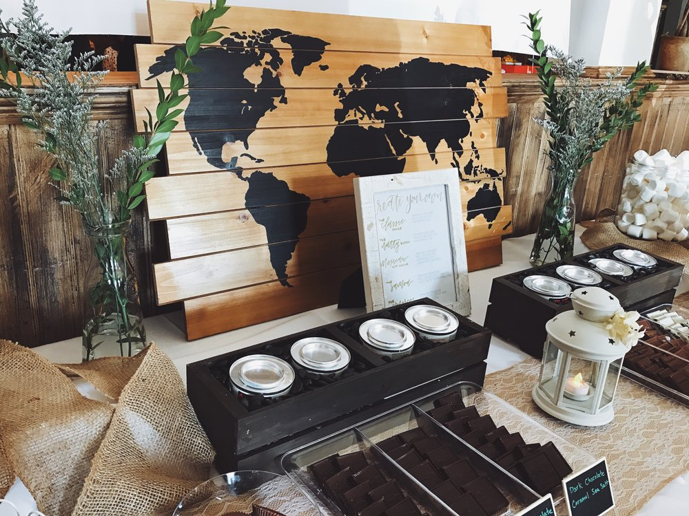 A S'mores Bar courtesy of our friend Leah, brought us all back to our childhood and tied in perfectly with the outdoor adventure theme.