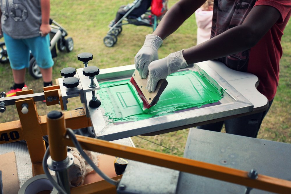 Events   We have the equipment, experience and know how to live-print at events and functions. These often take the form of either quick-fire workshops where people pull the prints themselves, or live printing products that people take away.