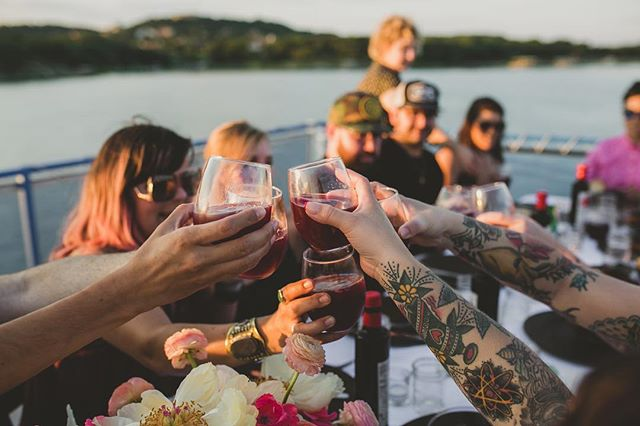 Dreaming of warmer days. This was from our lake Travis Pop Up dinner and sunset boat tour.