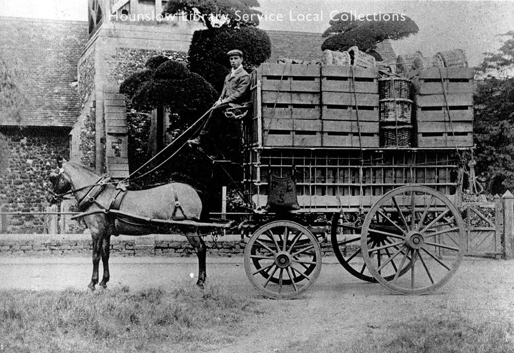 Gibbs Strawberry Cart  Image donation: Donald Gibbs in 1983   Hounslow Library Service, Local Collections