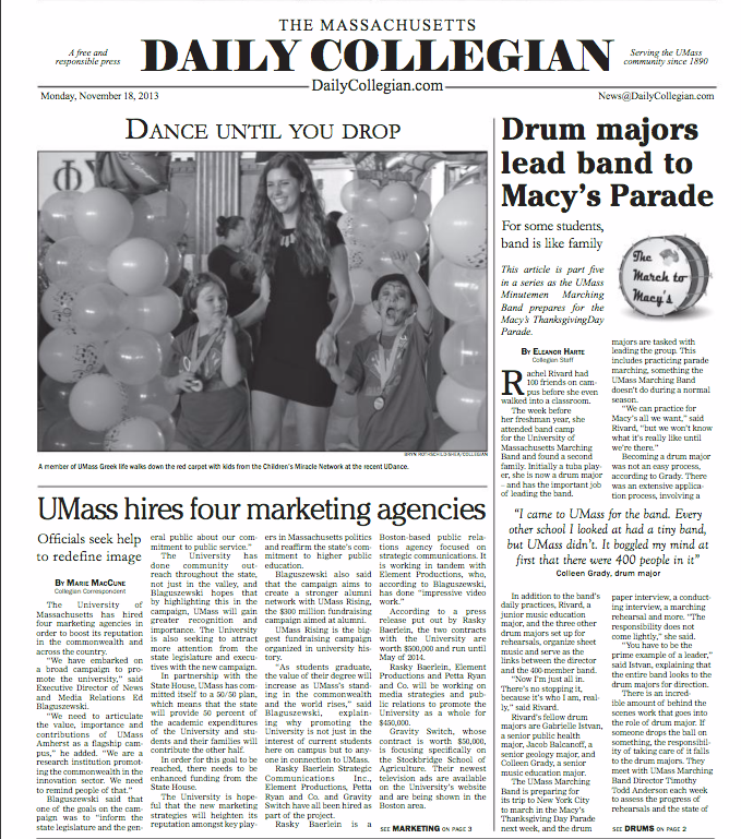 As seen on  The Massachusetts Daily Collegian  for Rent The Runway at UDance.