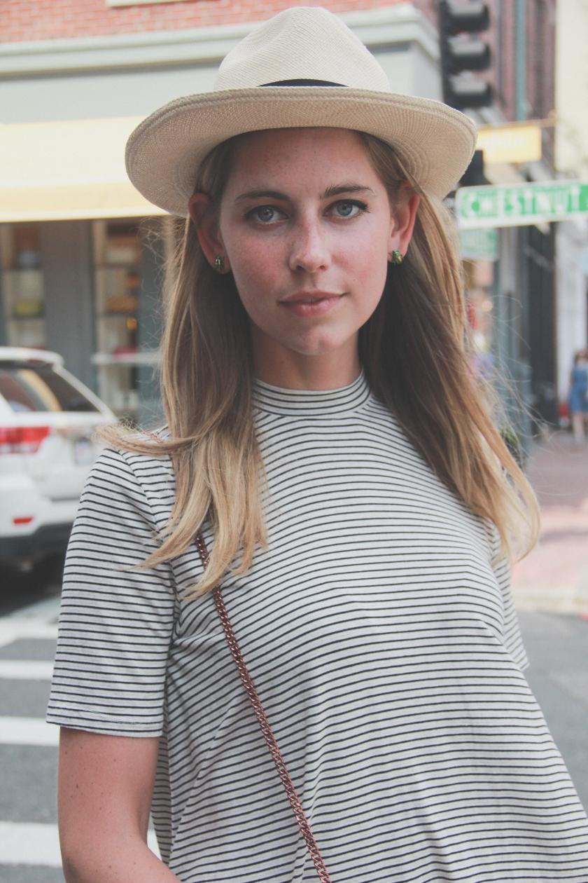 fedora striped tshirt