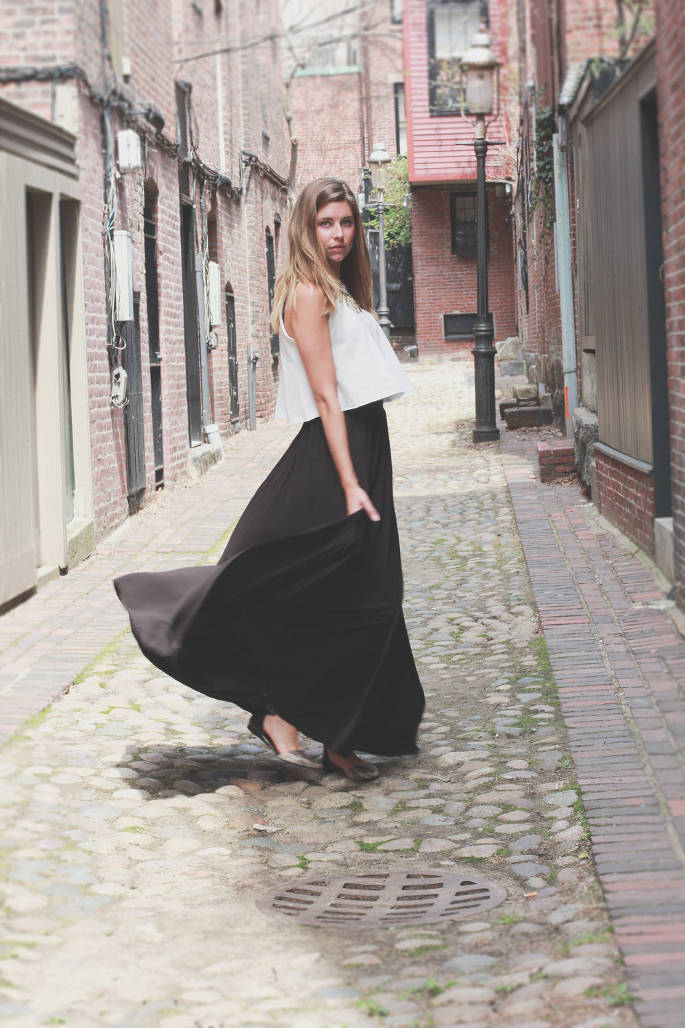 maxi skirt movement photography