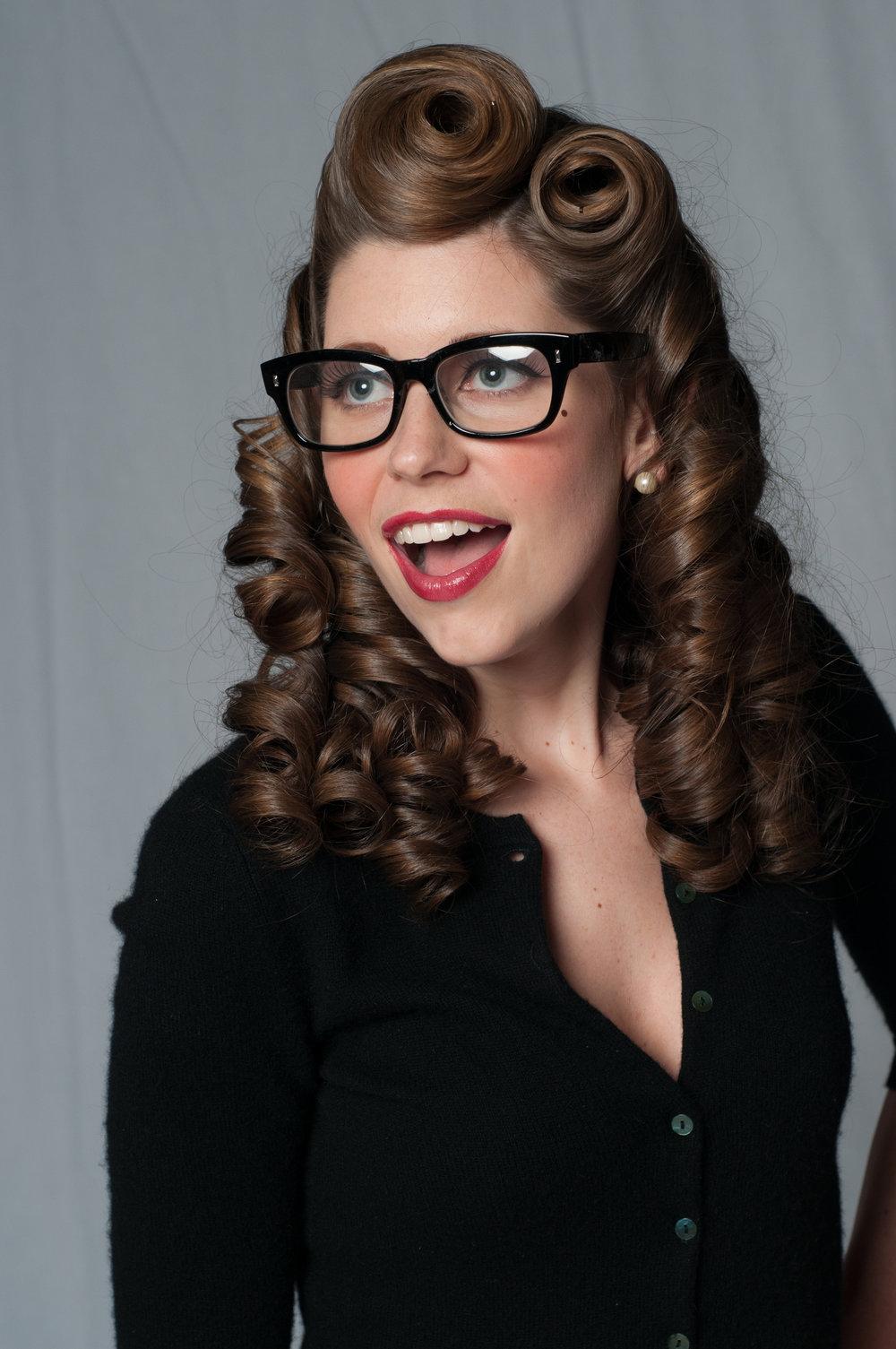 Amy Friel modeling Savas Studios pinup