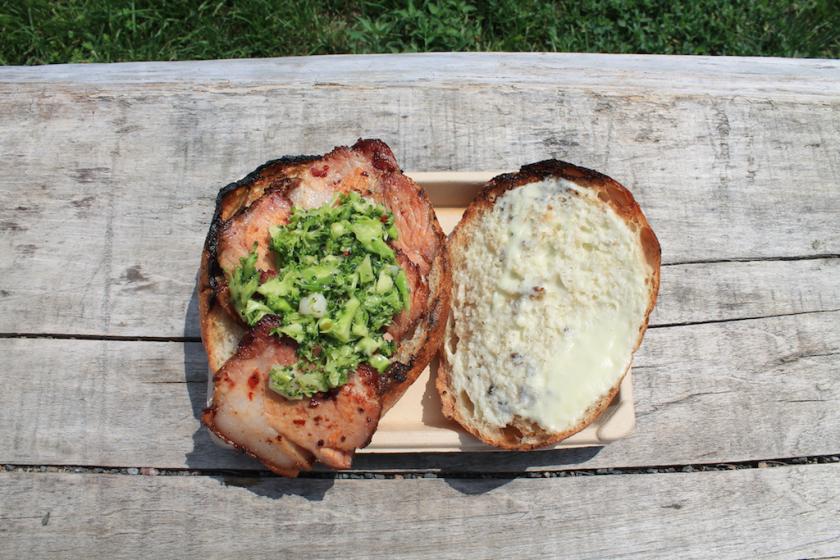 Carnal Pork Jowl Sandwich