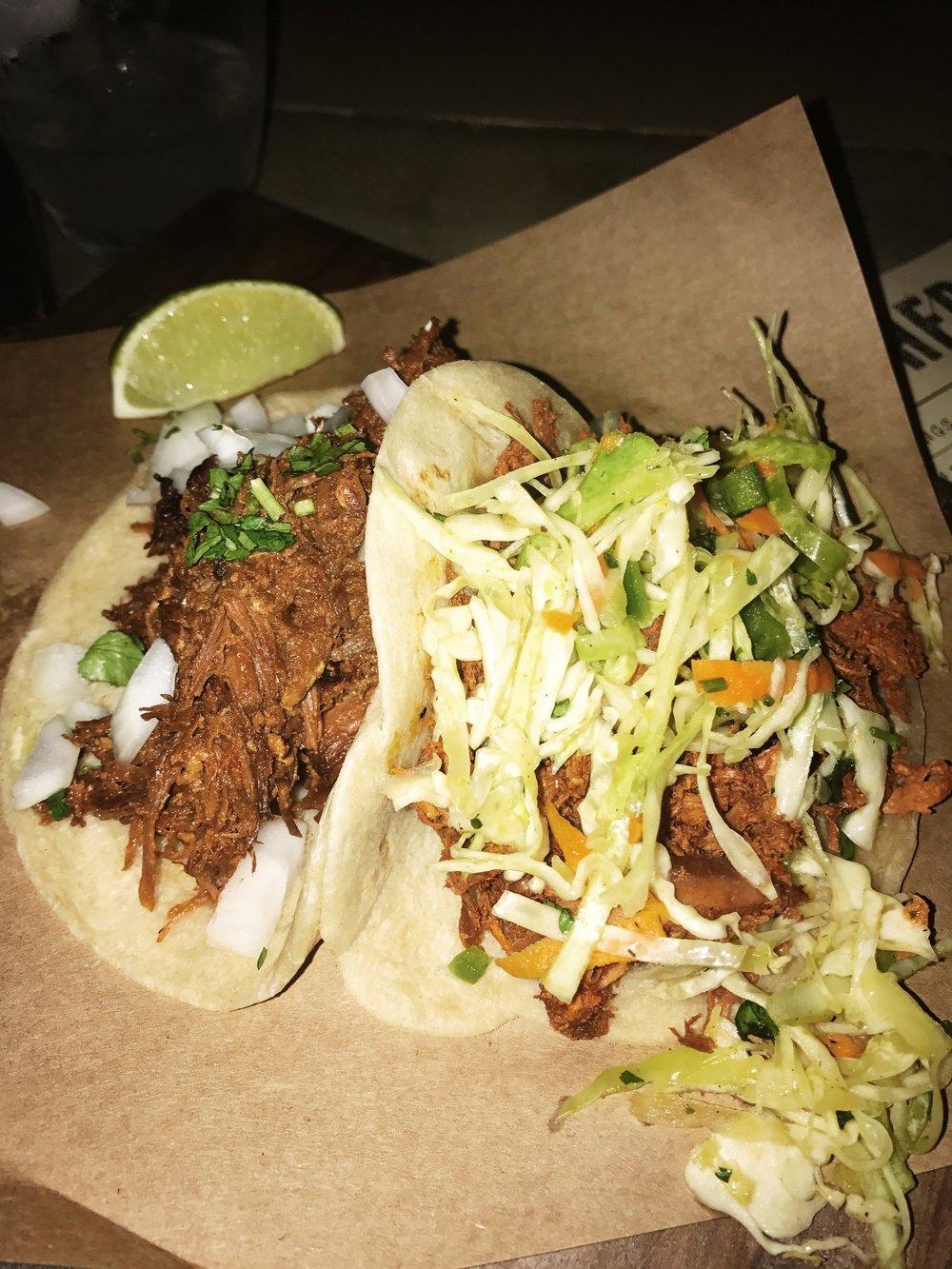 The Pork Tacos.