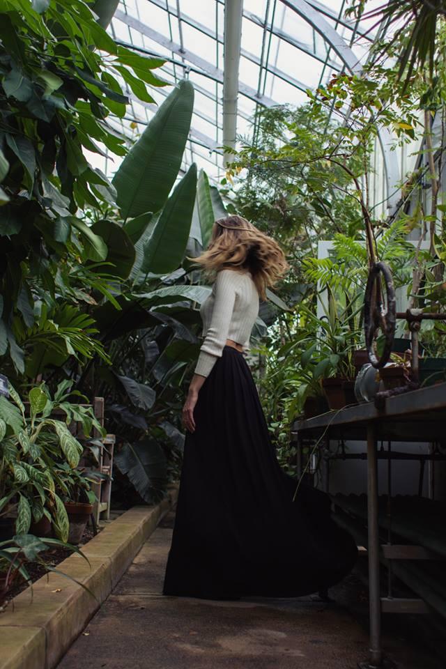 botanical garden photo shoot