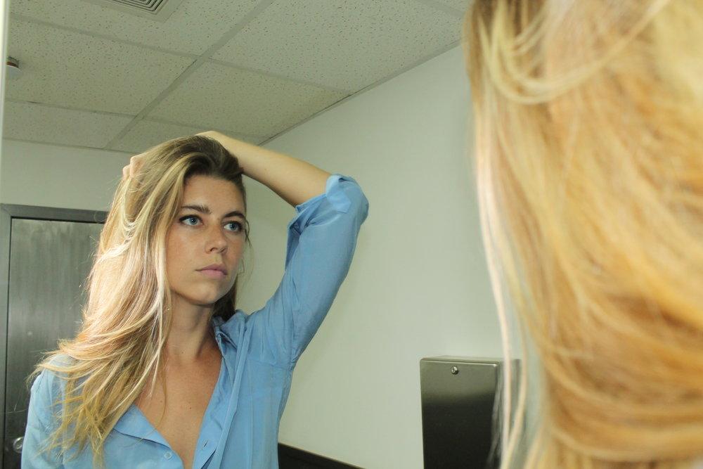 Amy Friel model DRESSHIRT