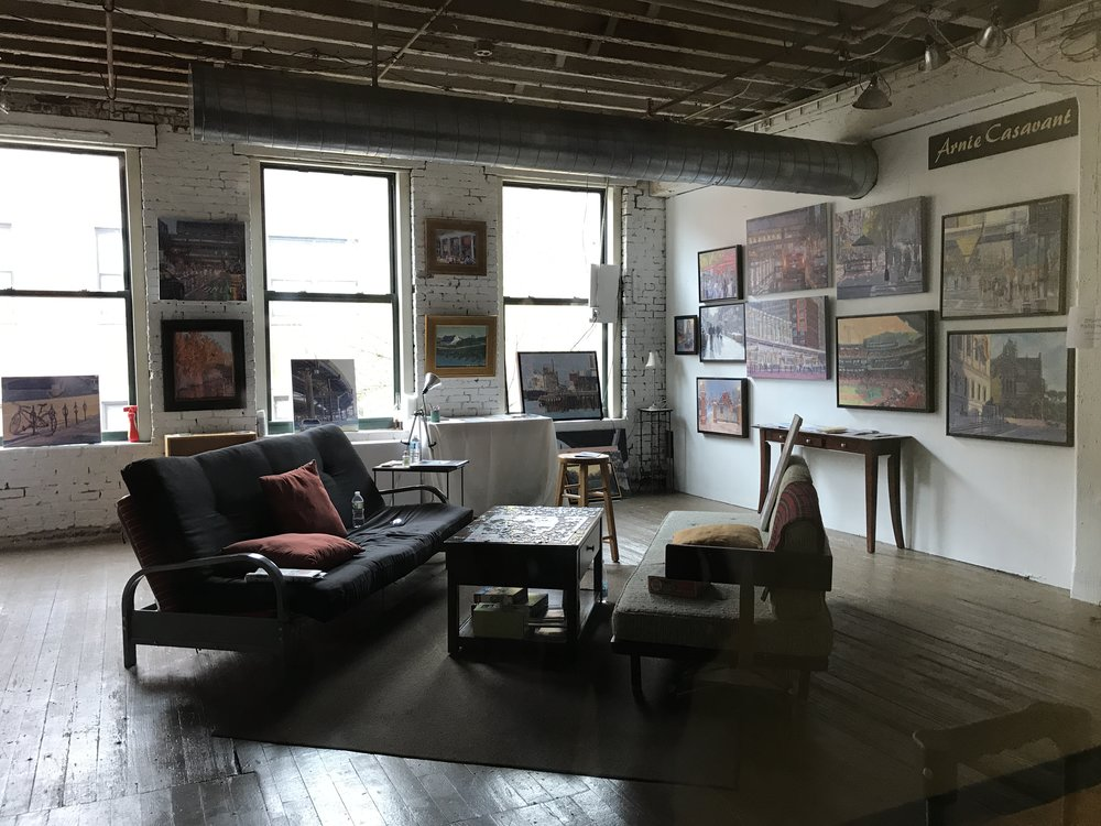 One of the artist's studios from SoWa #studiogoals