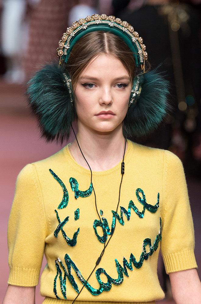 Dolce Gabbana FW '15 Milan Fashion Week.