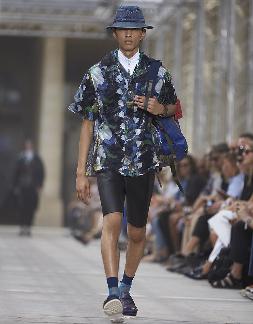 backpack on LV runway. image from   Louis Vuitton  .