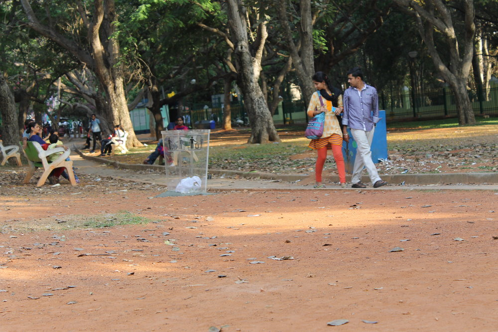 Cubbon park-transparent dustbin by Natasha Sharma