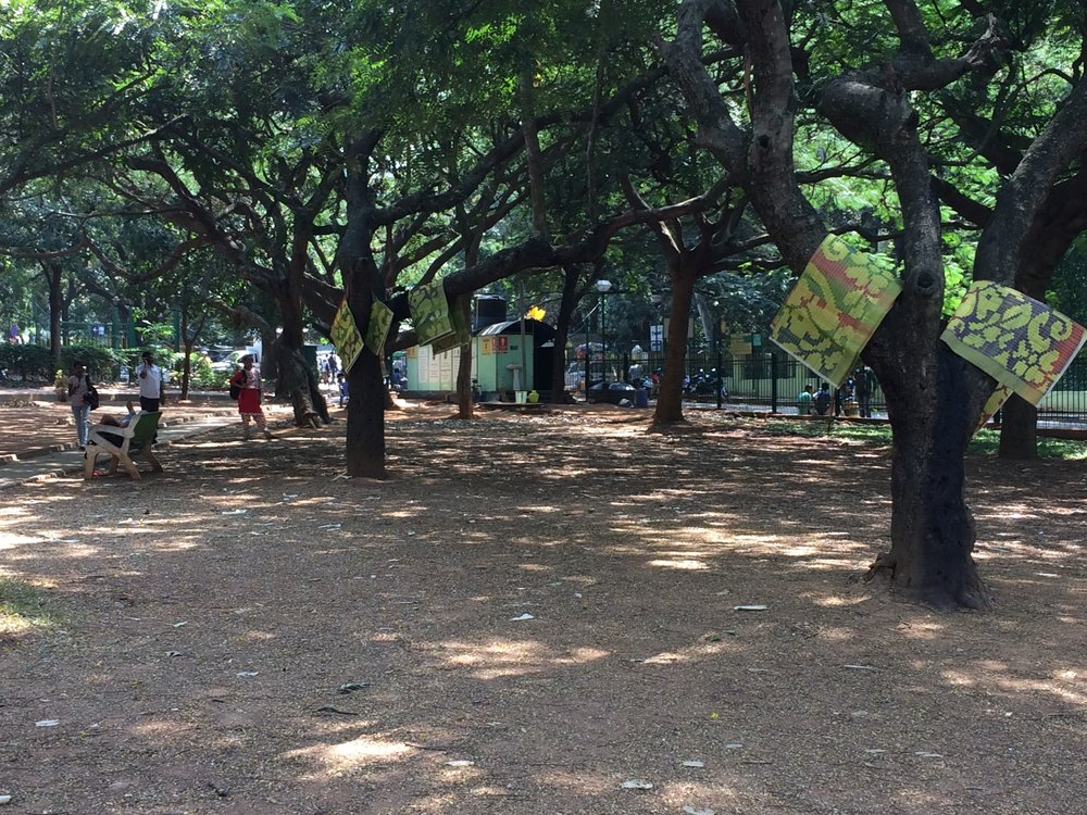 Library of mats, Cubbon Park, Natasha Sharma