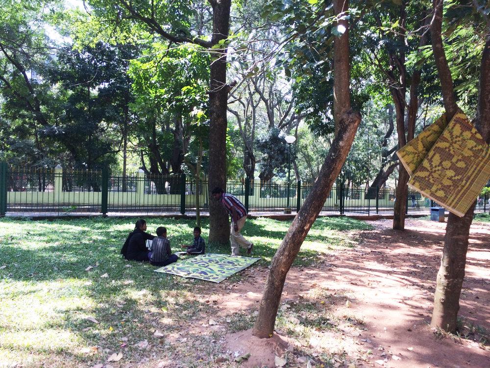 Library of mats, Cubbon Park, Natasha Sharma