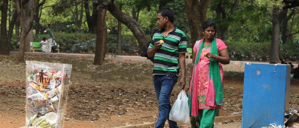 TRANSPARENT BIN  Cubbon Park, Bengaluru