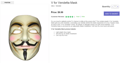 Buy an anonymous mask and fight corporate power!