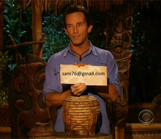 sam76@gmail.com, you have been voted off the island. Hopefully you won't come back as sam77....