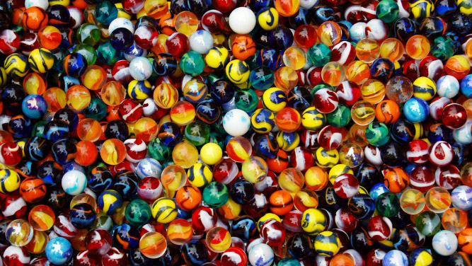 Marbles are useful for understanding biometric accuracy.