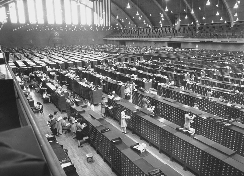 FBI Fingerprint facility during World War II