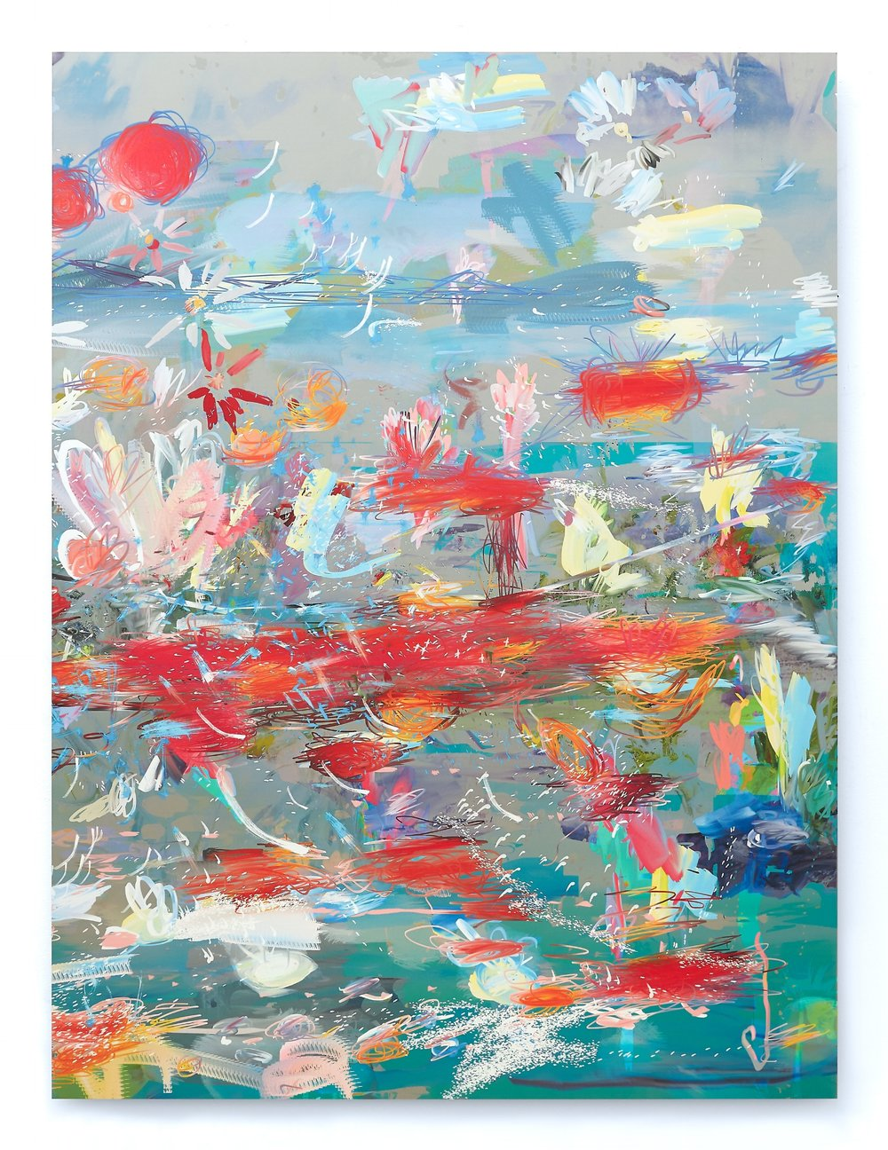 Petra Cortright    EROTICAboyloveboylove  Digital painting on anodized aluminum 64 x 48 in(162.6 x 121.9 cm)