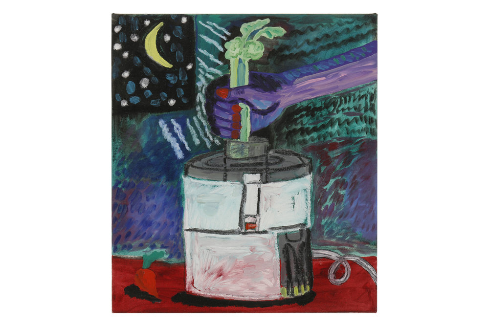 Jennifer Sullivan    The Celery Stalks at Midnight   Oil on canvas  18 x 16 in (45.7 x 40.6 cm)