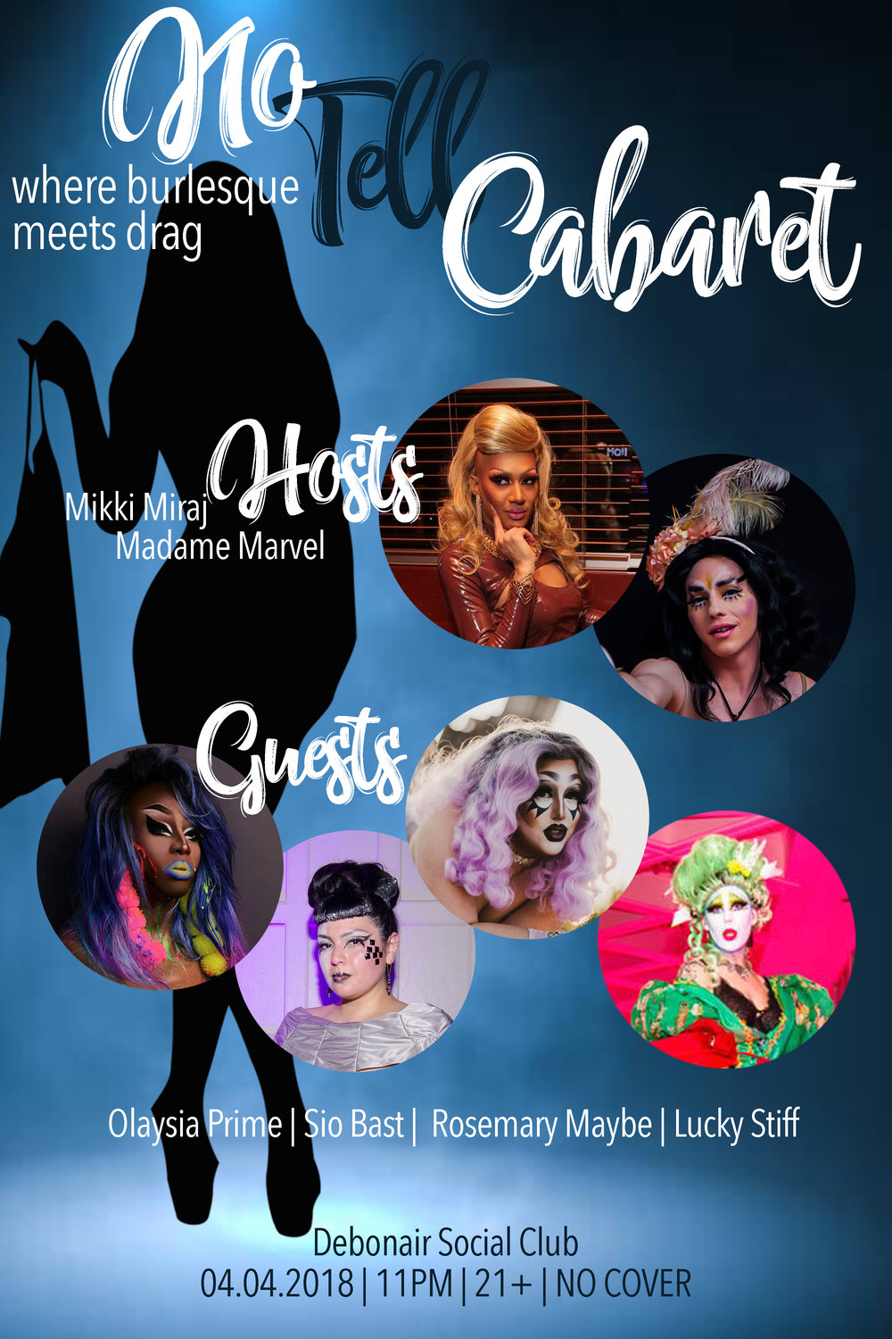 No Tell Cabaret Poster