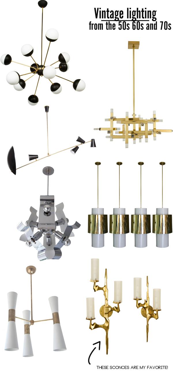 Rewire, vintage lighting, sconces, chandeliers, brass heaven, Mimosa lane blog