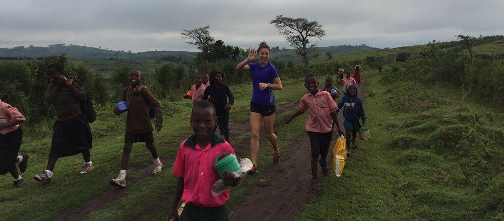 Ellie Lacey Running in Uganda