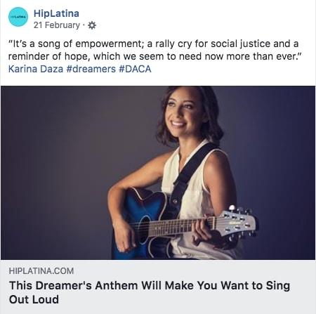 HipLatina - Irina Gonzales covers Karina's pro-Dreamers anthem.