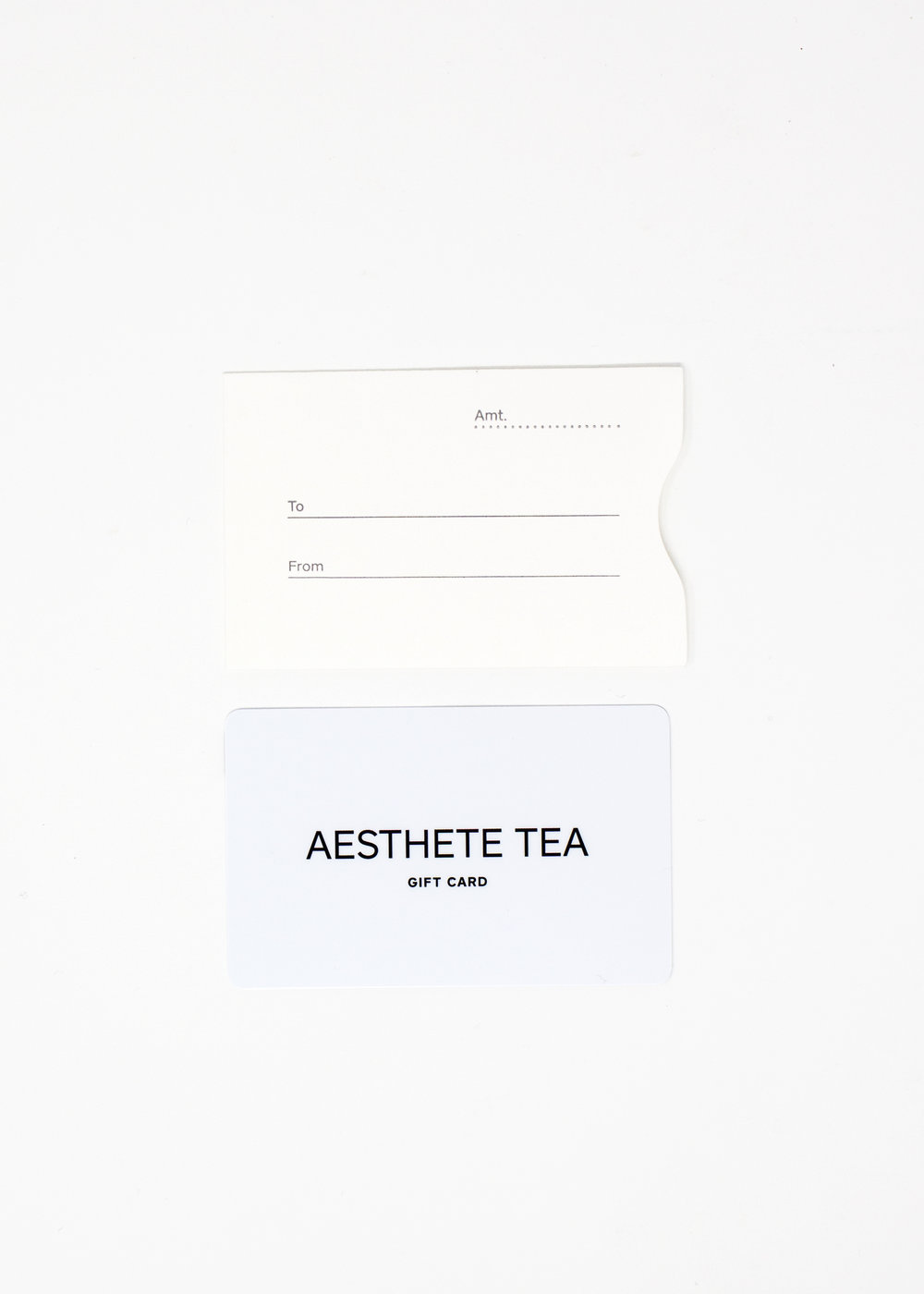 Digital Gift Card Online Store Use Only Aesthete Tea Voucher