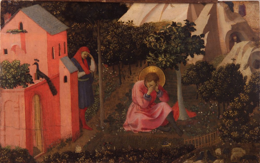 """The Conversion of St. Augustine"" by Fra Angelico"