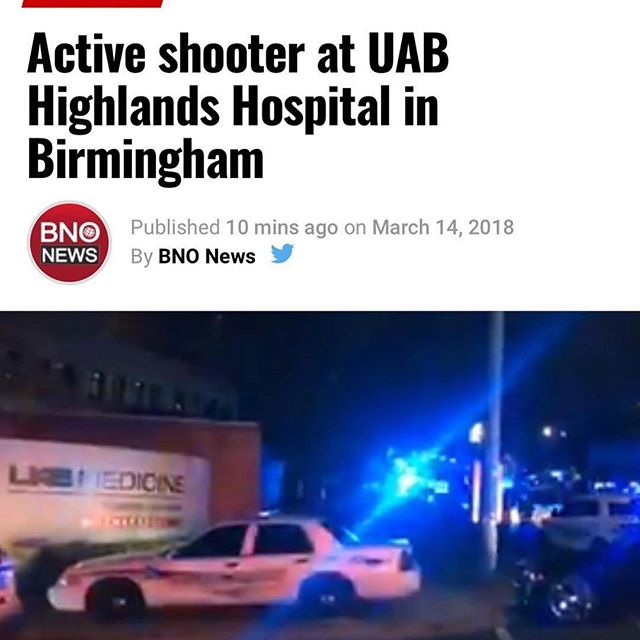 Thoughts and prayers go out to our #nursing brothers and sisters at #uab.  The violence has got to end man...even in war zones they don't target hospitals.  Tragic. . . . . . #Repost @nurselizbsn with @get_repost ・・・ There's an active shooting going on at my job. Fortunately I'm off today but I'm worried to death about my coworkers 😱