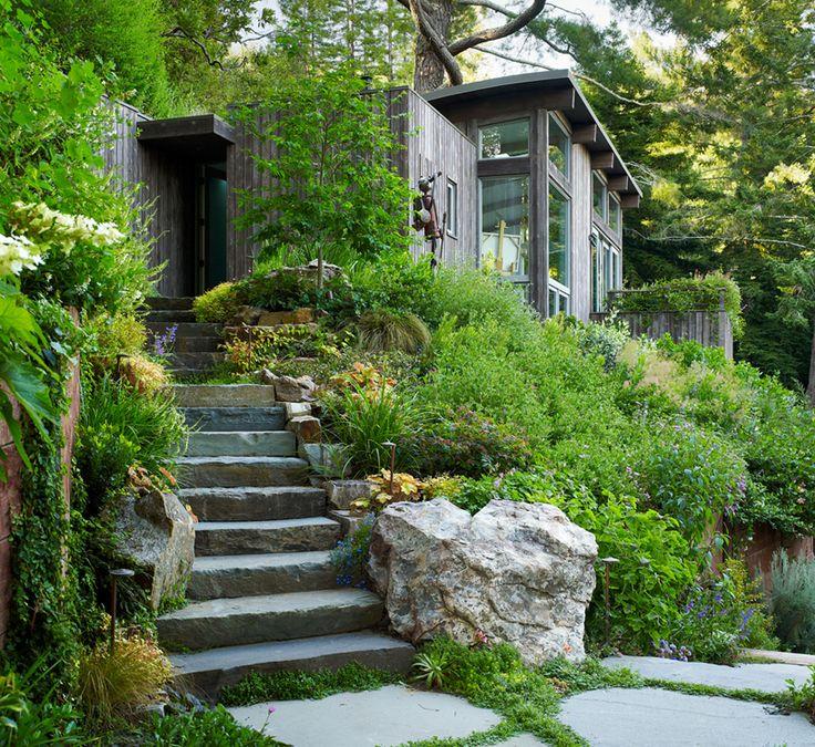 Hillside stone design