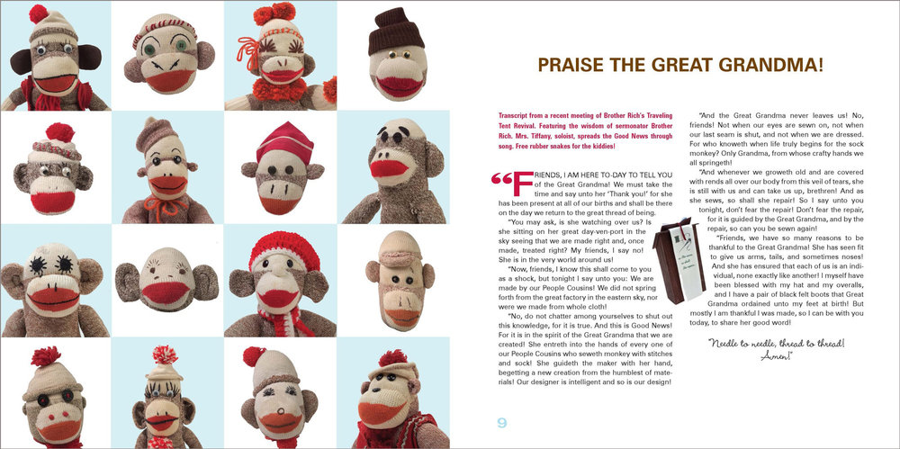 SOCK MONKEY DREAMS—design / Viking Studio