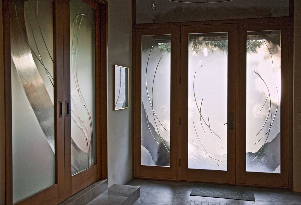 ARCHITECTURAL Art Glass - Create profound beauty in an entryway, workspace, or living space, by allowing light to energize and illuminate doorways, walls or windows.
