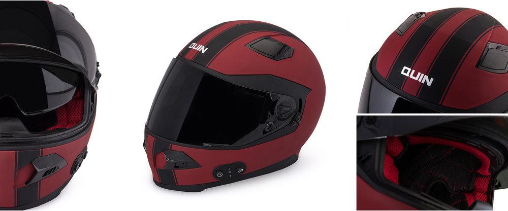 Quin SpitFire Rosso Helmet