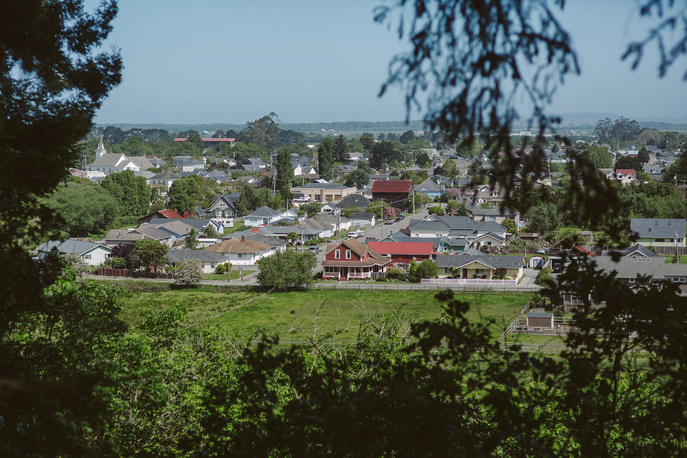 View of Ferndale CA from Russ Park