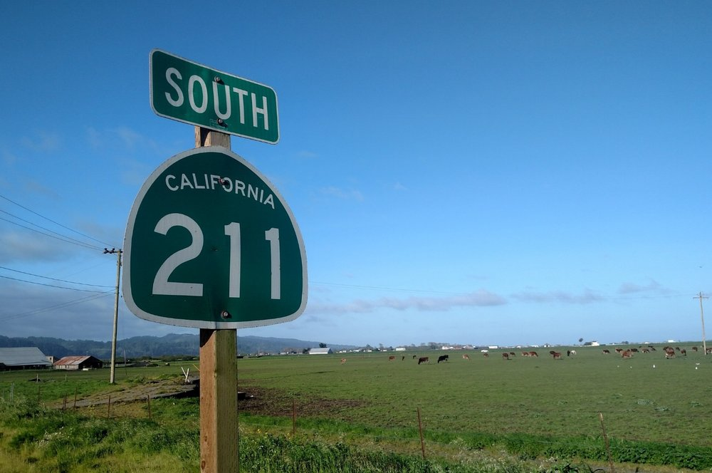 Highway 211 to Ferndale CA