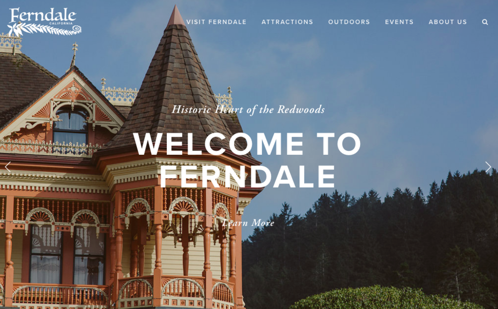 Visit Ferndale | Website Screenshot