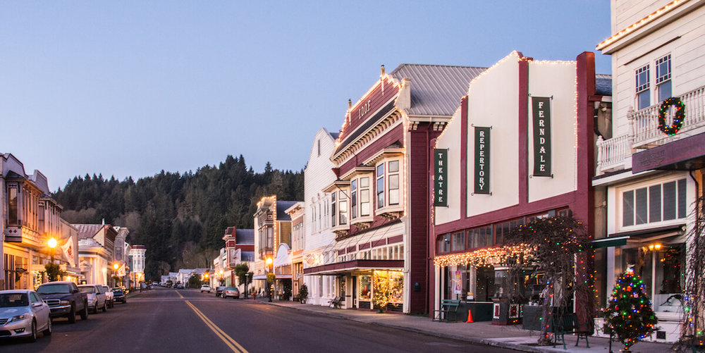 Ferndale Main Street at Christmas - Best Historic Small Towns for the Holidays.jpeg