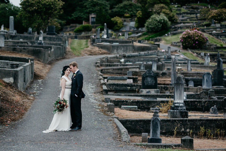 Vintage 50s Gothic Wedding in Ferndale Cemetery - Weddings in Ferndale California.jpeg