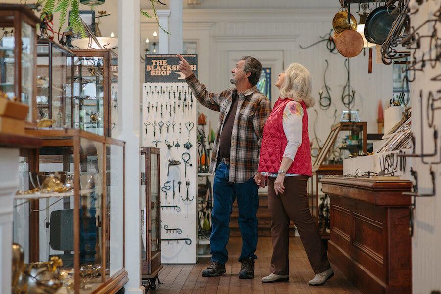 Couple Christmas Shopping at The Blacksmith Shop - Ferndale CA.jpeg