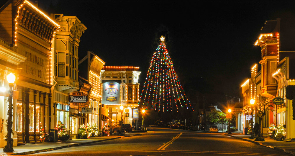 Ferndale Main Street, The Vidtorian Inn and the largest living  Christmas Tree in the USA.jpg