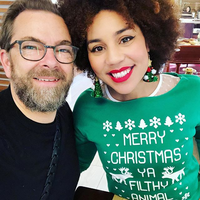 Merry Christmas, ya filthy animals! 😂 (who can guess this reference?) #merrychristmas #sleighallday I love my Viking husband @thorstenovergaard ❤️🎄🎁🔥 #joytribe #thevillavonovergaards #joyinflorida #bringjoytocongress #happychristmas #christmas2017 #MAGA