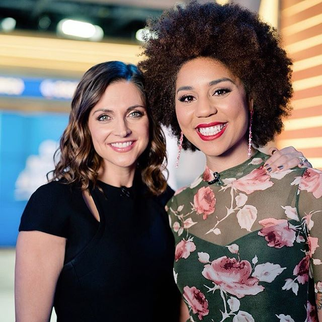Thanks to the lovely @paulafaris for a great interview this morning on @goodmorningamerica! We are Making Good Morning America Great Again! 😆☀️🎶💕 #joytribe #joyvilla #bringjoytocongress #goodmorningamerica #love #unity #MAGA #singer #indieartist photo by @thorstenovergaard 💕