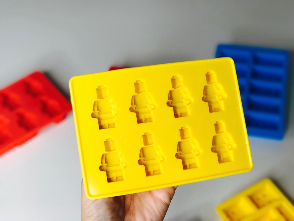 You can make these LEGO chocolates a singular color - or mix it up and make it look like a real mini-figure!