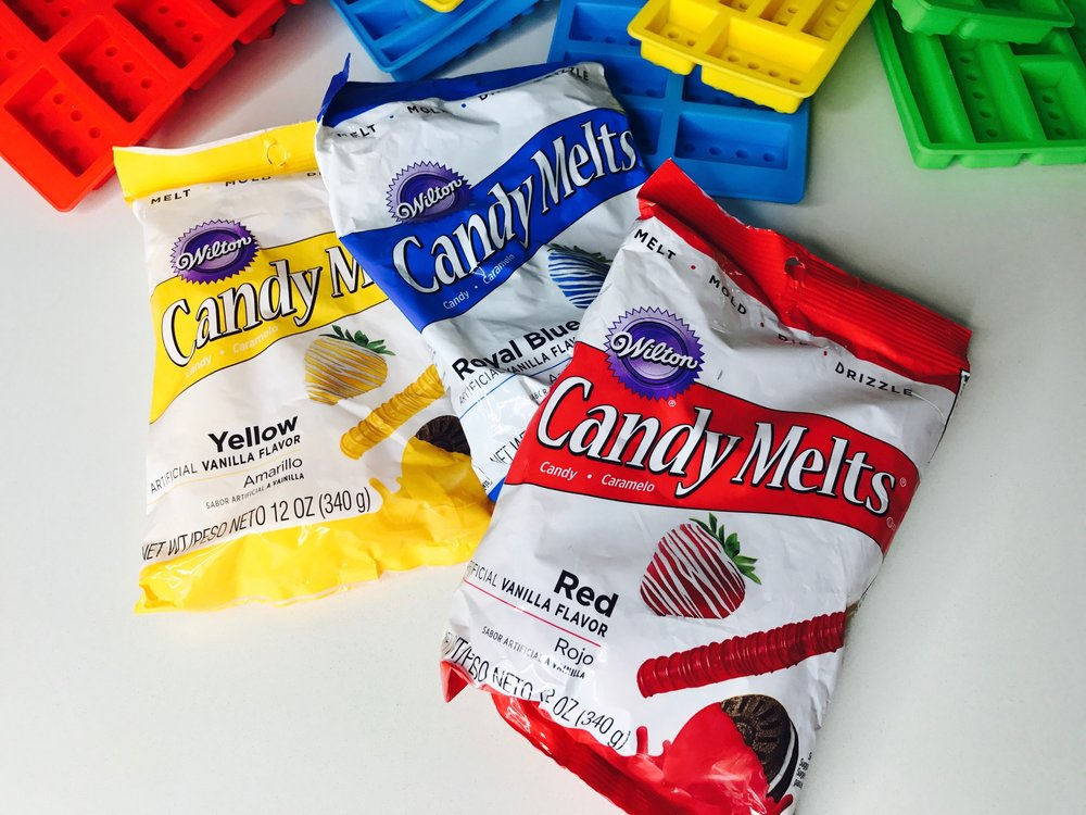Candy melts are the best!  Perfect for cake toppers and chocolate LEGOS!