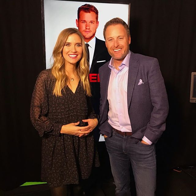 Best time chatting with @chrisbharrison about my favorite guilty pleasure @bachelorabc ! 🌹💕💕 Watch our EXCLUSIVE @goodmorningamerica story on Tuesday AM! @abcnews #bachelornation #bachelor